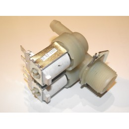 Dual 180° straight 10mm hose inlet solenoid valve